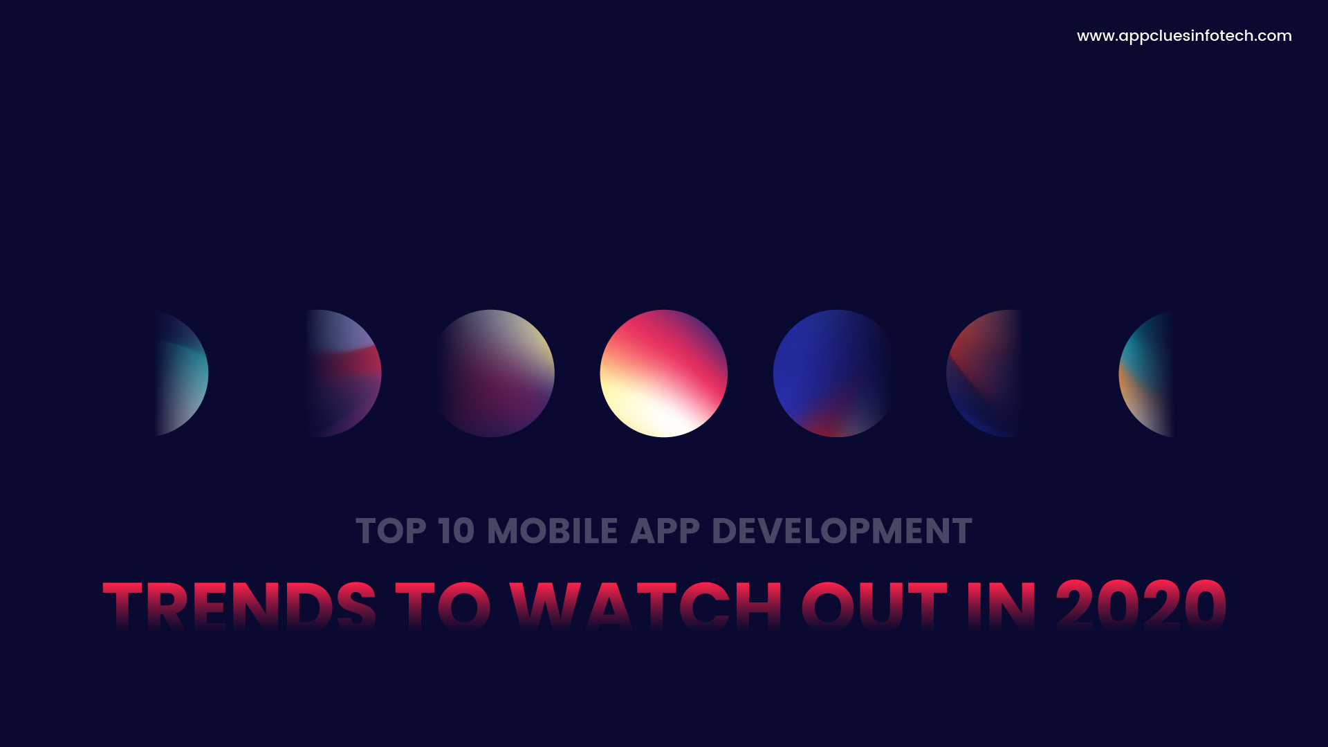 Top Mobile App Development Trends To Watch Out in 2020
